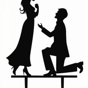 Taarttopper-huwelijksaanzoek