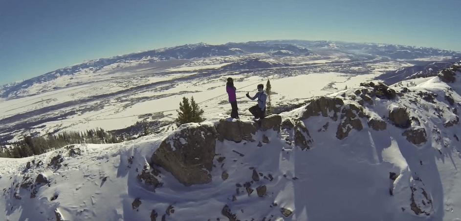 4 huwelijksaanzoeken gefilmd met een drone